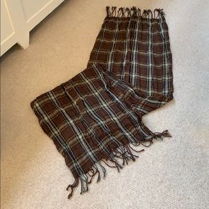 Accessories - Scarf in brown plaid  tones